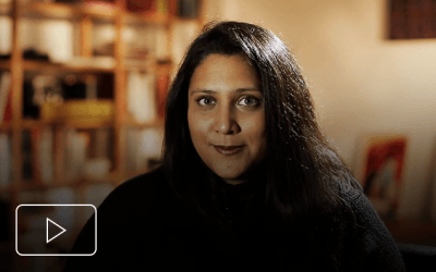Sunita Pattani explicando o trauma